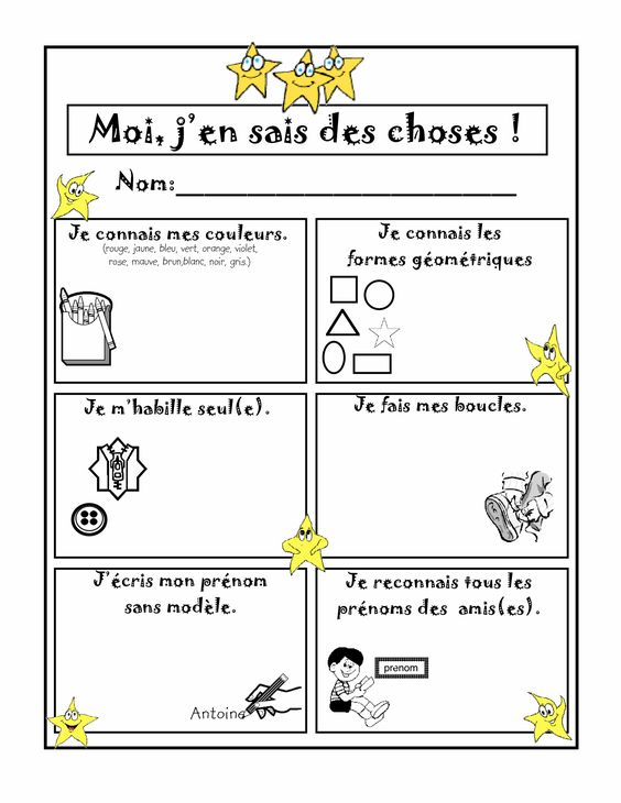 grille d'évaluation visuel pour les enfants - Yahoo Image ...