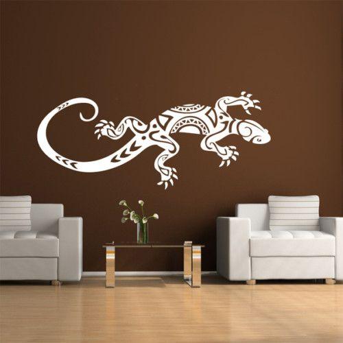 wandtattoo wandbild gecko eidechse tattoo neu e1. Black Bedroom Furniture Sets. Home Design Ideas