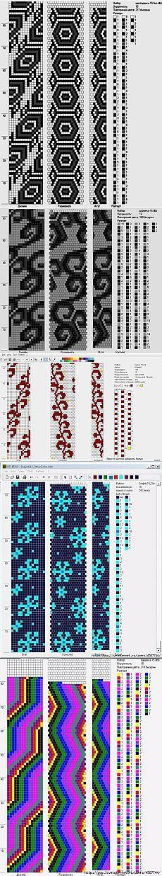 100 схем для вязания жгутов на 15-16 бисерин