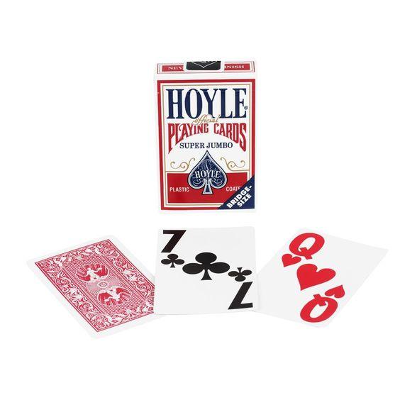 Hoyle Super Jumbo Index Bridge Cards Red Back