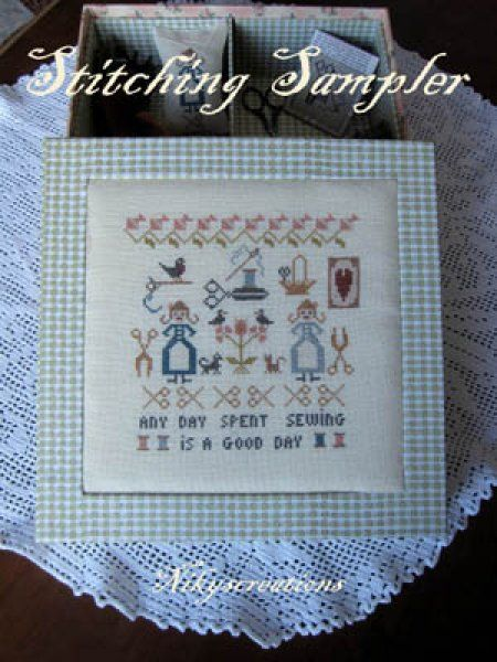 Stitching Sampler is the title of this cross stitch pattern from NikysCreations.