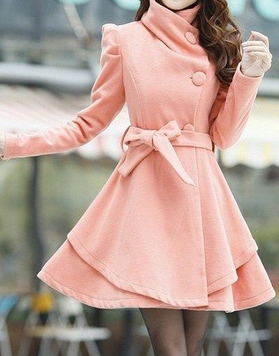 Cute peach dress coat: