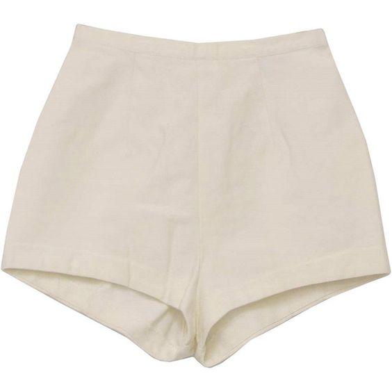 70's Catalina Shorts - 70s -Catalina- Womens white high waist ...
