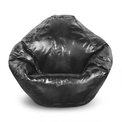 Trule Standard Faux Leather Bean Bag Chair Lounger Bean Bag Chair Leather Bean Bag Chair Leather Bean Bag