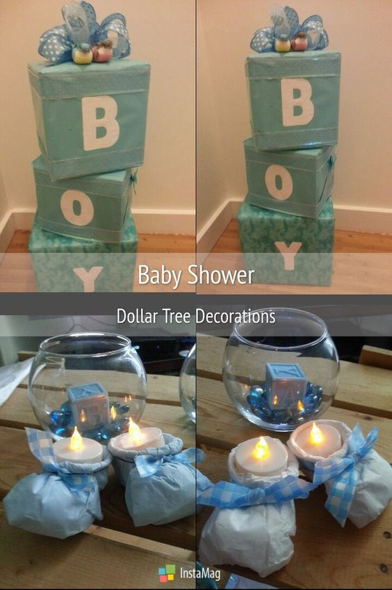 Diy Dollar Store Baby Shower Ideas On A Budget Diy Baby Shower Decorations Boy Budget Baby Shower Diy Baby Shower Decorations