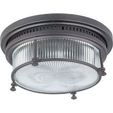 View the Maxim 25000CLBZ Hi-Bay 2-Bulb Flush Mount Indoor Ceiling Fixture - Glass Shade Included at LightingDirect.com.