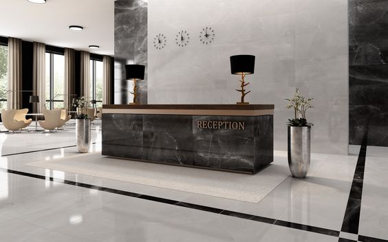 HERITAGE Collection - COLORKER #hotel #inspiration #publicspaces #colorker #tiles #porcelain #marbleeffect #decor #interiors