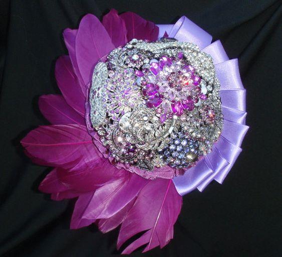 Magenta Brooch Bouquet