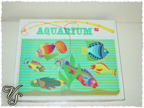 Vintage Brettspiele - Aquarium - Jumbo - Vintage Angelspiel 70er/80er - ein Designerstück von Vintageschippie bei DaWanda