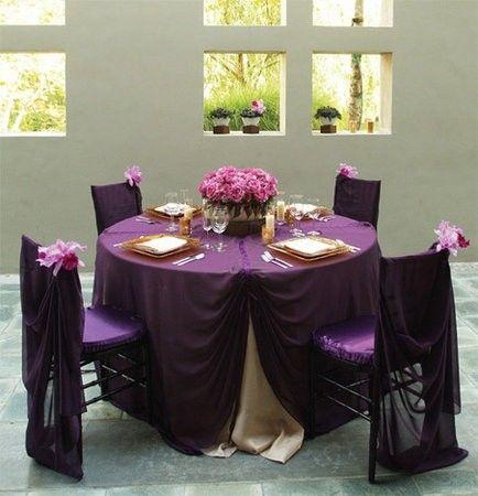 Table decerations for reception   Purple TableclothsWedding  table decerations for reception   Gold   Purple Wedding  . Purple Tablecloths For Wedding. Home Design Ideas