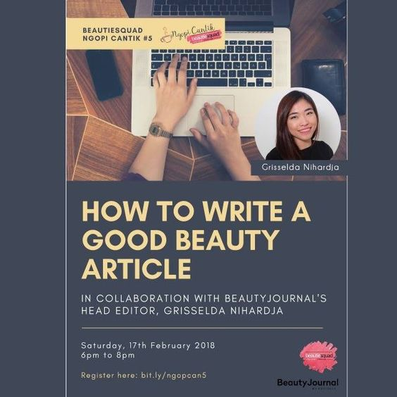 Ngopi Cantik 5: How To Write A Good Content with Grisselda Nihardja