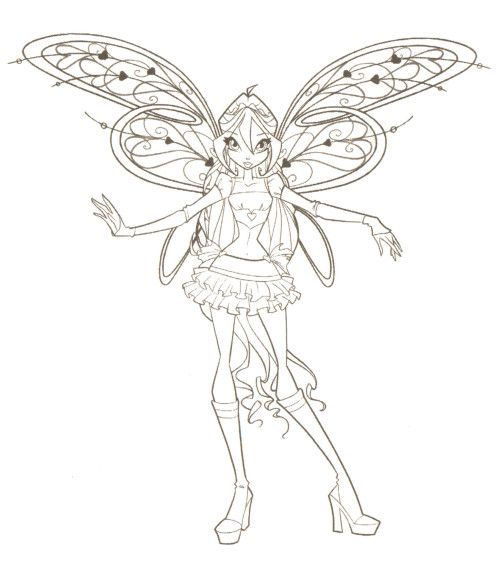 Winx Club Are Staring At Coloring Pages Printables