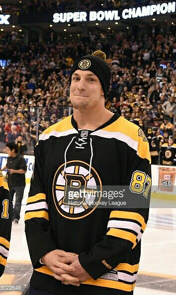 Showing support for the Boston Bruins.