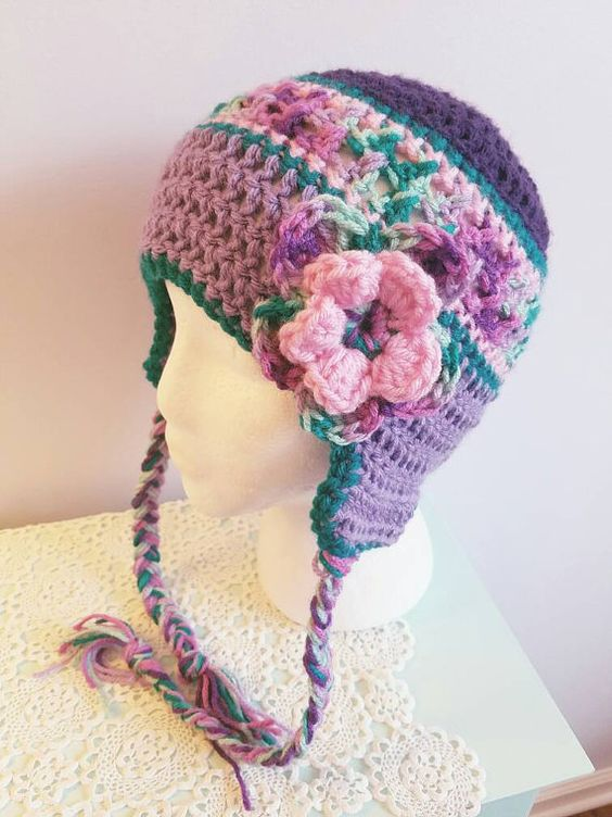 Multi-colored Shades of Purple Crochet by JoyfulMamaDesigns