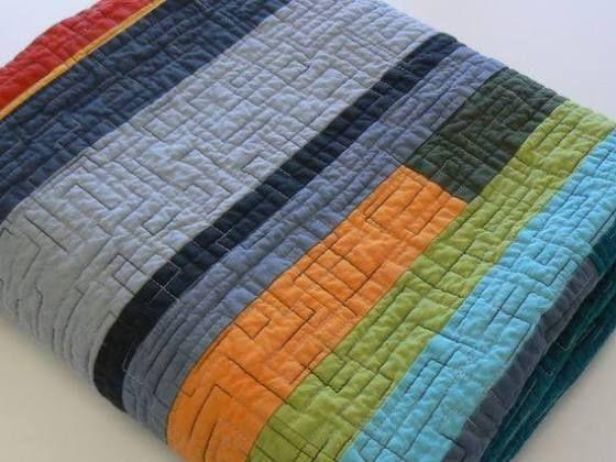 Mid Century Modern Quilt Made To, Mid Century Queen Bedspread