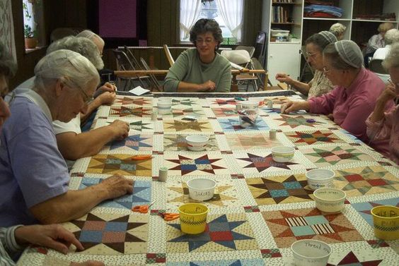 .Reminds me of Grandma's quilting friendships