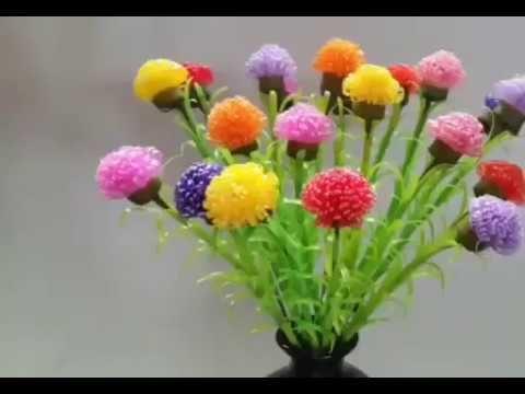 Kreasi Bunga Cantik Dari Sedotan Bunga Teratai Bunga Kaktus