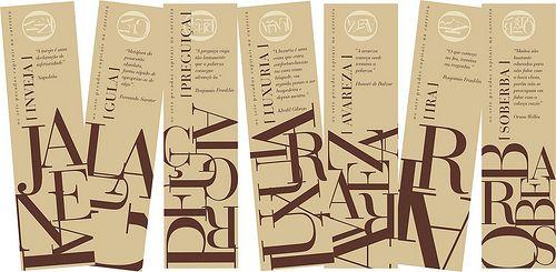 marcadores sete pecados | frente . design oscar reinstein