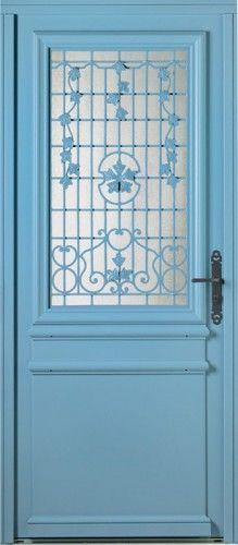porte bois porte entree bel 39 m classique poignee plaque rustique couleur gris cuivre cache. Black Bedroom Furniture Sets. Home Design Ideas