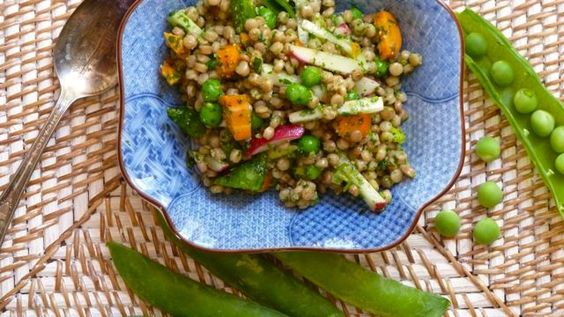 Couscous Salad with Cilantro Pesto and Spring Vegetables | recipes i ...