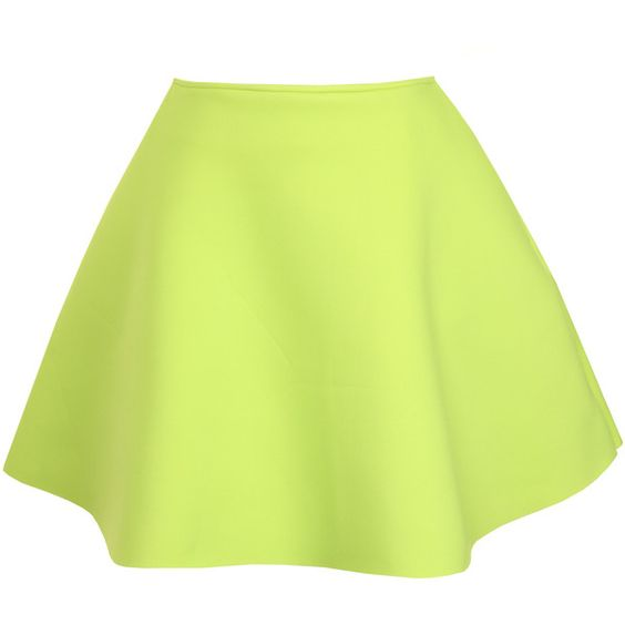 17 Best images about Yellow Flared | Green skirts, Green and Neon