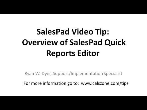 Salespad Quick Reports Is A Powerful Tool That Our Customers Love