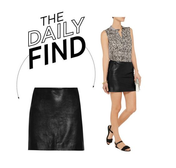 """""""Daily Find: Diane von Furstenberg Leather Mini Skirt"""" by polyvore-editorial ❤ liked on Polyvore featuring Diane Von Furstenberg and DailyFind"""