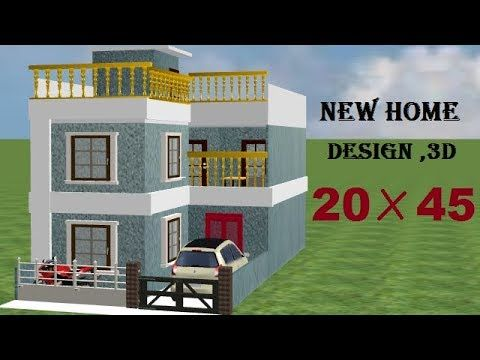 20 By 45 New 3d Home Design With Car Parking 20 45 House Plan 20 45 Small Home Design Youtube Small House Design House Design House Front Design