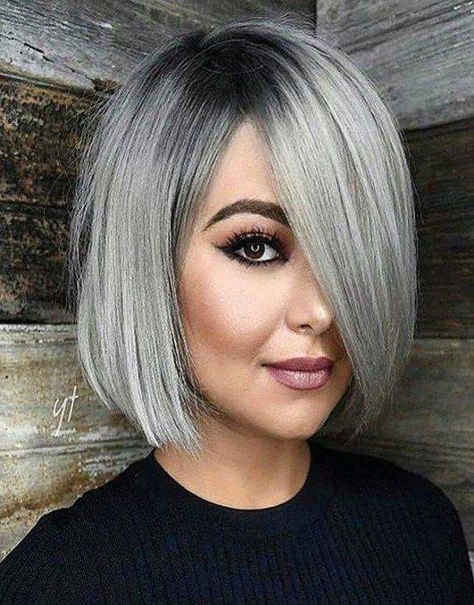 Loading Hair Styles Silver Hair Color Bob Hairstyles For Round Face