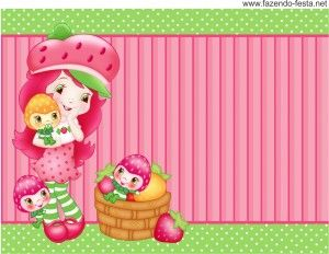 Strawberry Shortcake free printable card or candy bar label.