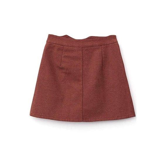 Zipper Fly A-Line Plain Mini High Waist Pockets Skirt (325 MXN) ❤ liked on Polyvore featuring skirts, mini skirts, a-line skirt, zipper mini skirt, red skirt, red a line skirt and mini skirt