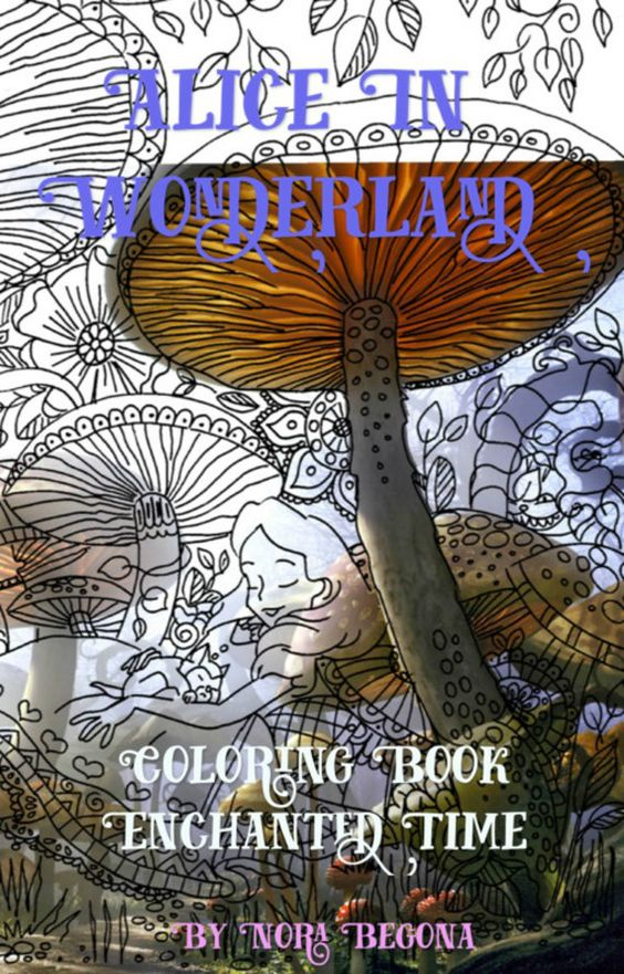Alice In Wonderland Book Report Ideas : Alice in wonderland adult all ages fantasy coloring by