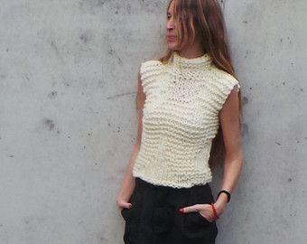 RESERVED for AMANDA / Grunge sweater / Fawn Alpaca mix por ileaiye