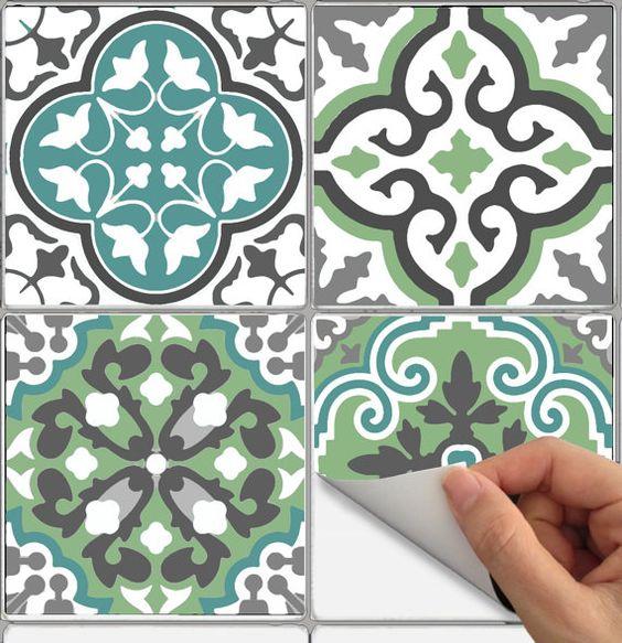 tuile sticker cuisine salle de bain sol mur impermable leau amovible peel stick n bx302 - Stickers Tuile Vinyle Salle De Bain