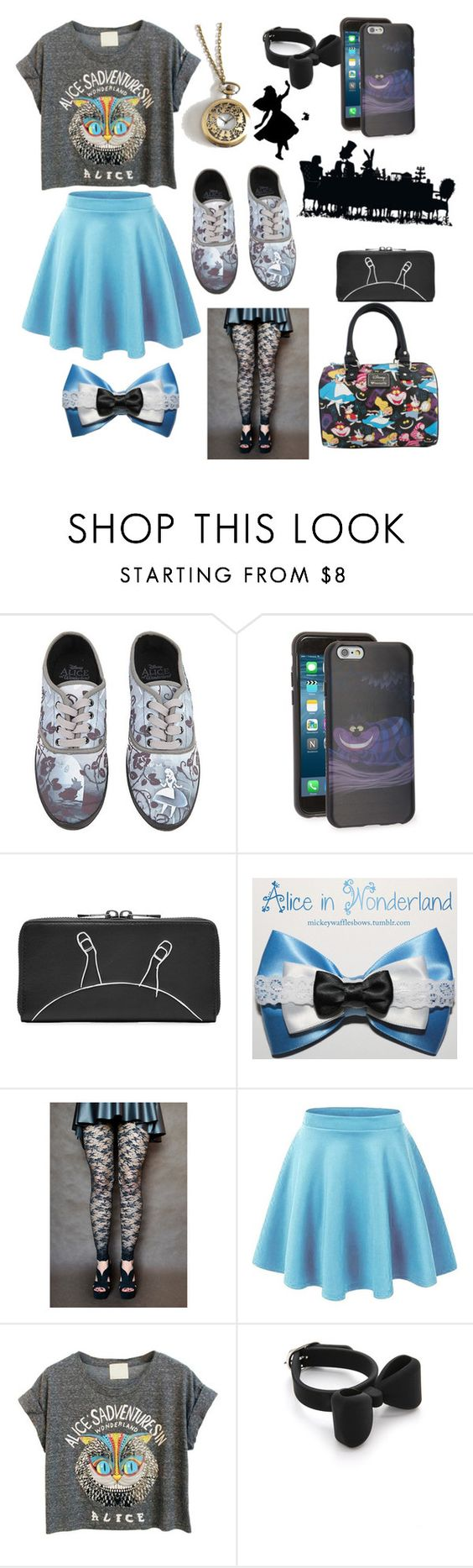 """Alice in Wonderland"" by brianne-r-s ❤ liked on Polyvore featuring Disney and Marc by Marc Jacobs"