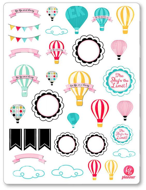 In The Clouds Assortment Planner Stickers for Erin Condren Planner, Filofax, Plum Paper