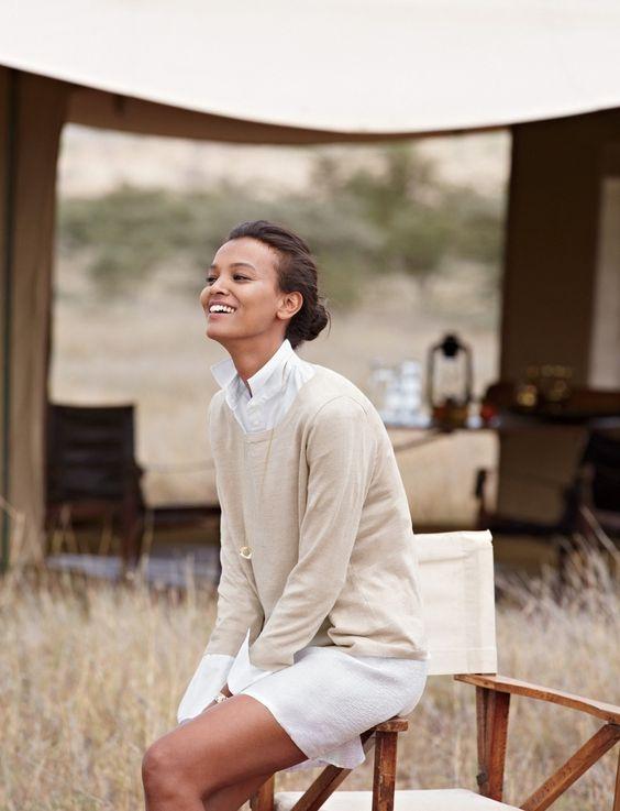 cultivatoroflifebeautiful:  Liya Kebede. In Tanzania for J.Crew.