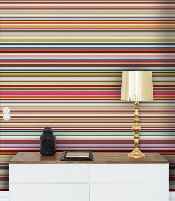Stripes. Room Decor with Stylish Stripes Illusion   Murals  Stripe