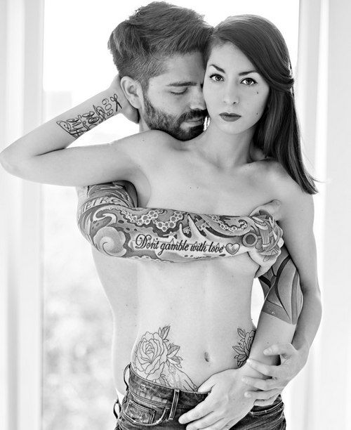 Maybe have a tattoo that appears on the pair when bonded that when separate looks nice but when together looks amazing.