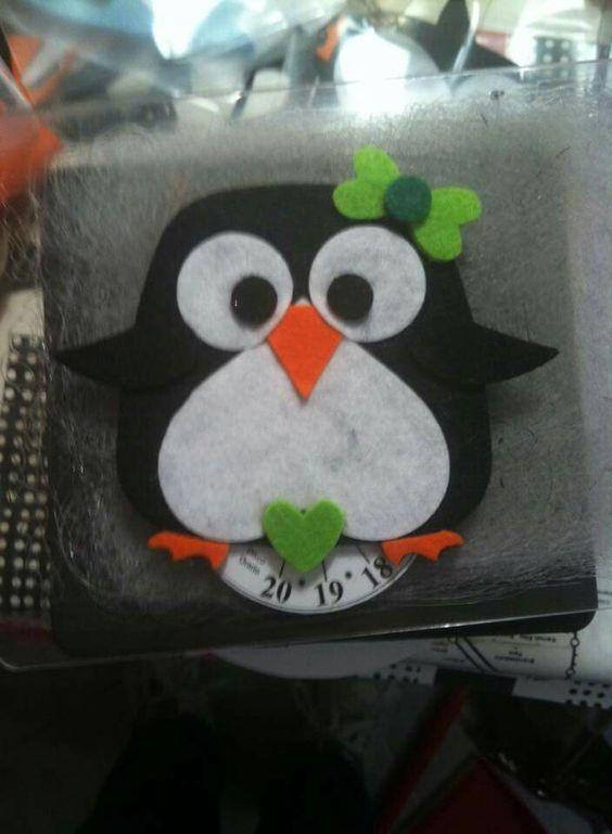 Gufo pinguino felt owl