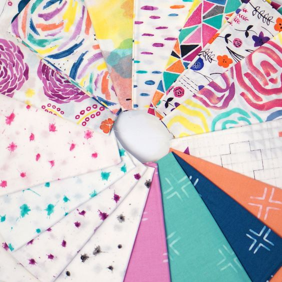 Brush Strokes Fat Quarter Bundle - By Holly DeGroot for Cloud9 Fabrics