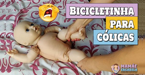 Aprenda a fazer bicicletinha para as cólicas do bebê recém-nascido.
