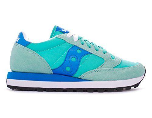 Sneaker Saucony Jazz in suede e nylon verde Tiffany e azzurro - http://on-line-kaufen.de/saucony/sneaker-saucony-jazz-in-suede-e-nylon-verde-e