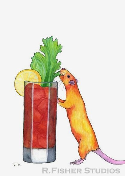 Rachel Fisher | WATERCOLOR | Betty's Bloody Mary: