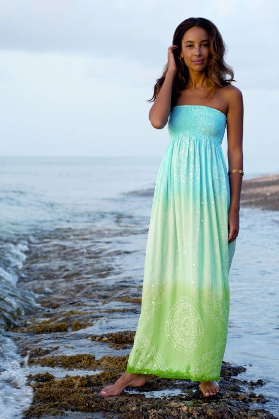 Ombre beach maxi dress  Fashion  Pinterest  Fashion Ombre and ...