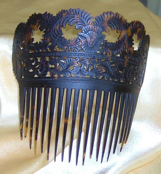 Vintage Real Victorian Tortoiseshell Hair Comb