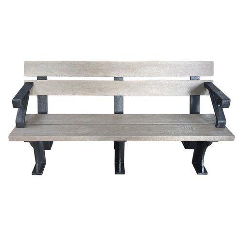 Plastic Bench Caracella Finish Grey