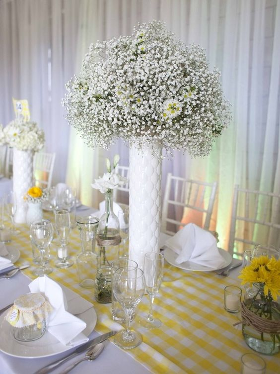 Yellow Wedding Table Decoration Ideas : Yellow wedding theme ideas the frosted petticoat