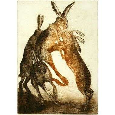 boxing hares - Anna Ravenscroft