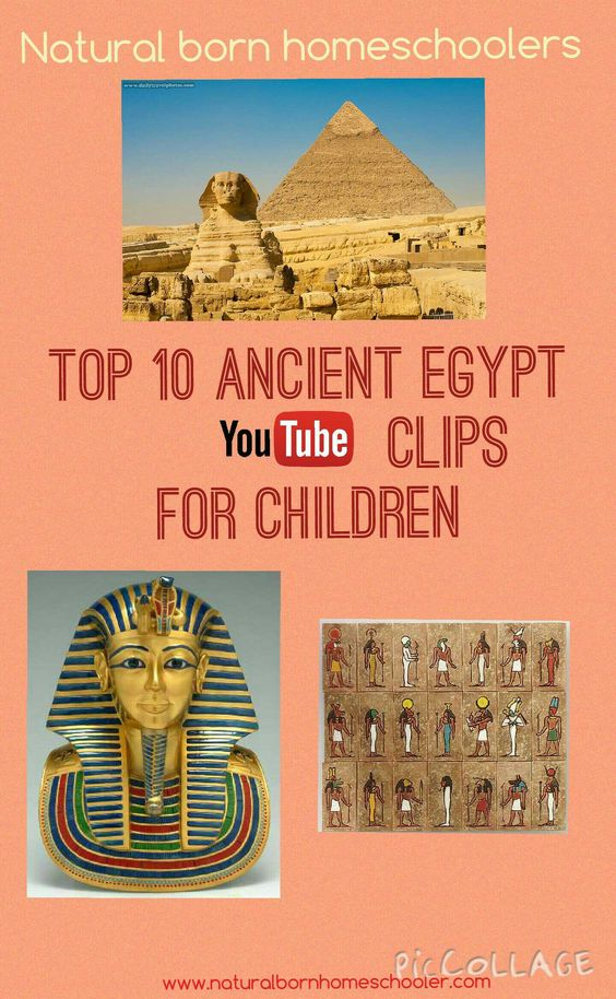 Top 10 ancient egyptians youtube clips for children. http://naturalbornhomeschooler.com/2015/05/02/ancient-egyptians-resources-youtube-clips/